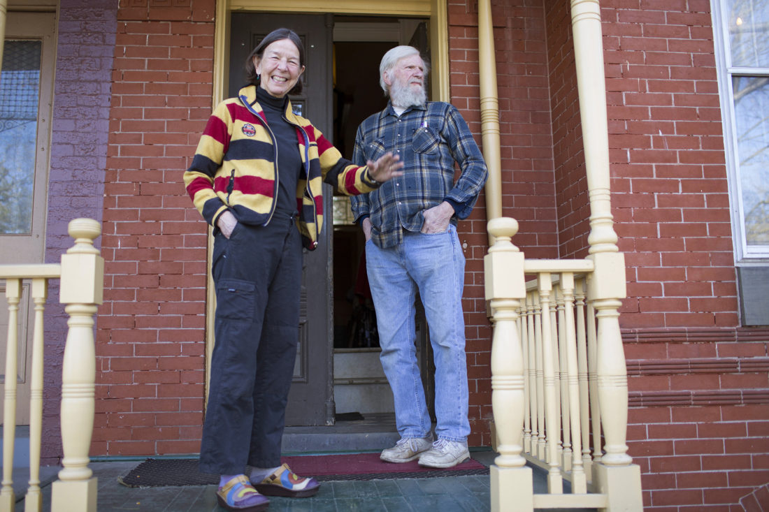 Sarah and Cal Buikema have lived in the Reservoir Hill neighborhood for a few decades. At the time of not have very much money, they bought their run down house which was once an apartment building to make it their own.