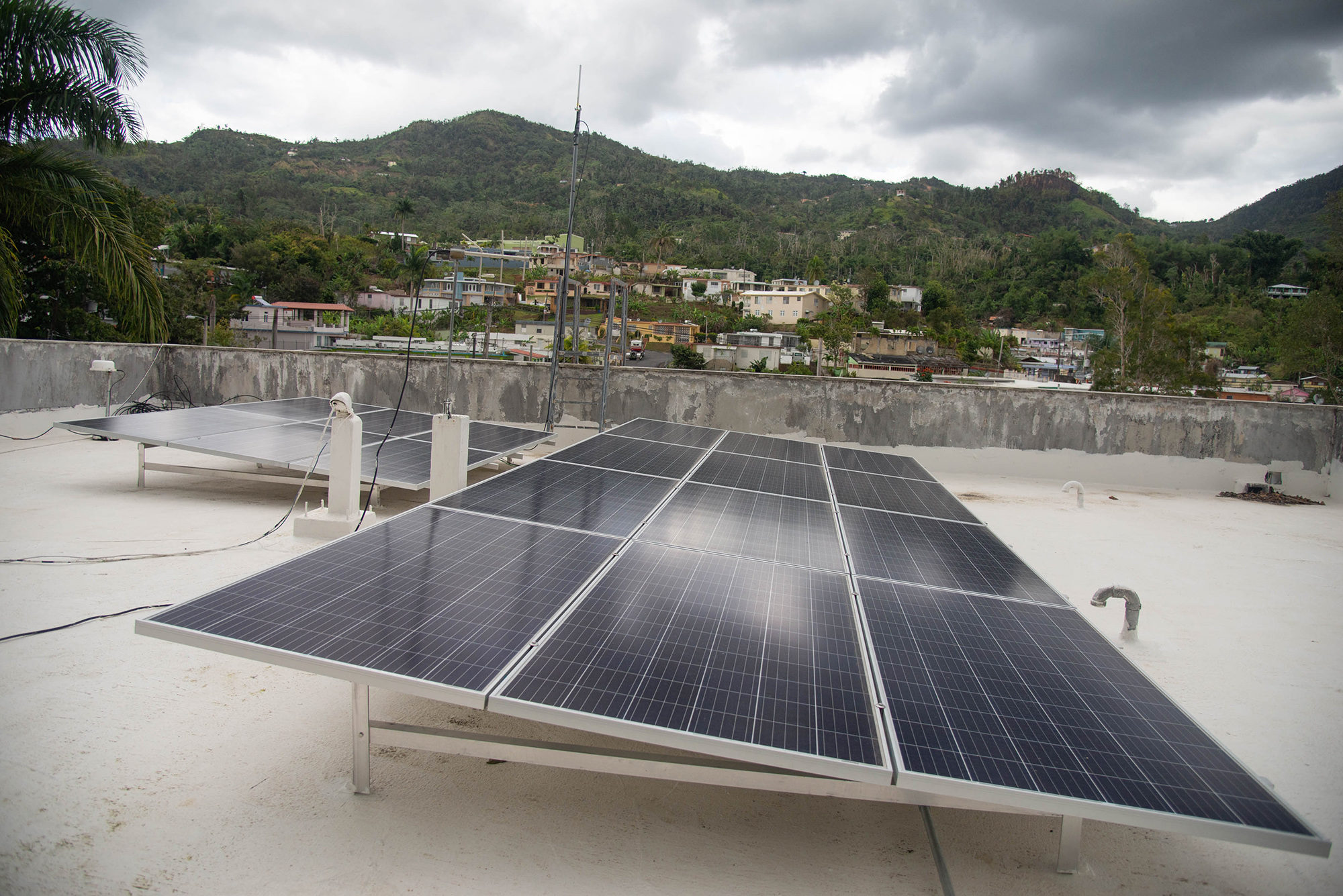 The firehouse in Adjuntas, Puerto Rico, has solar panels on the roof and a much reduced dependence on the commonwealth's energy grid. Photo by Valerie Welch