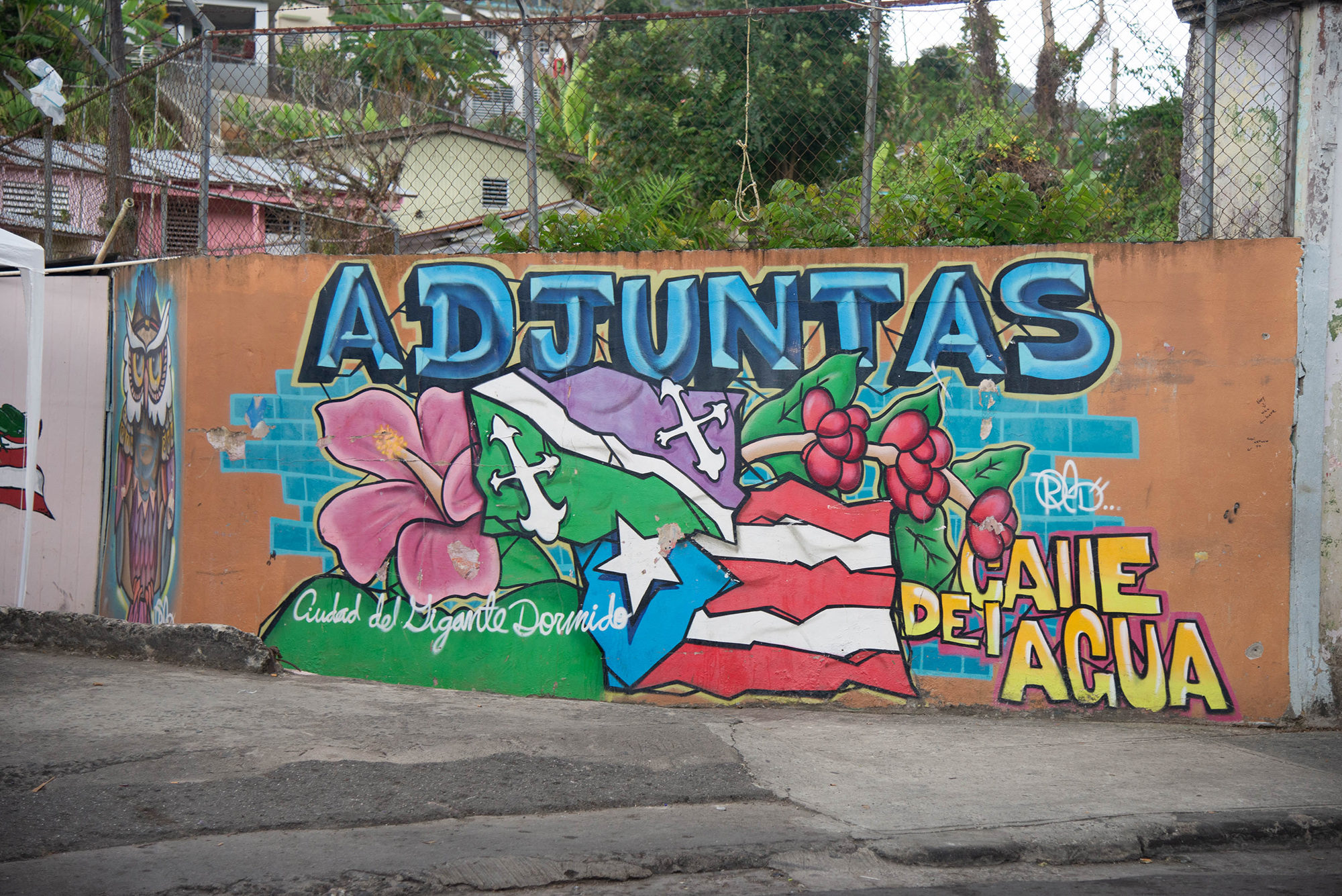 A mural in Adjuntas, Puerto Rico. Photo by Valerie Welch