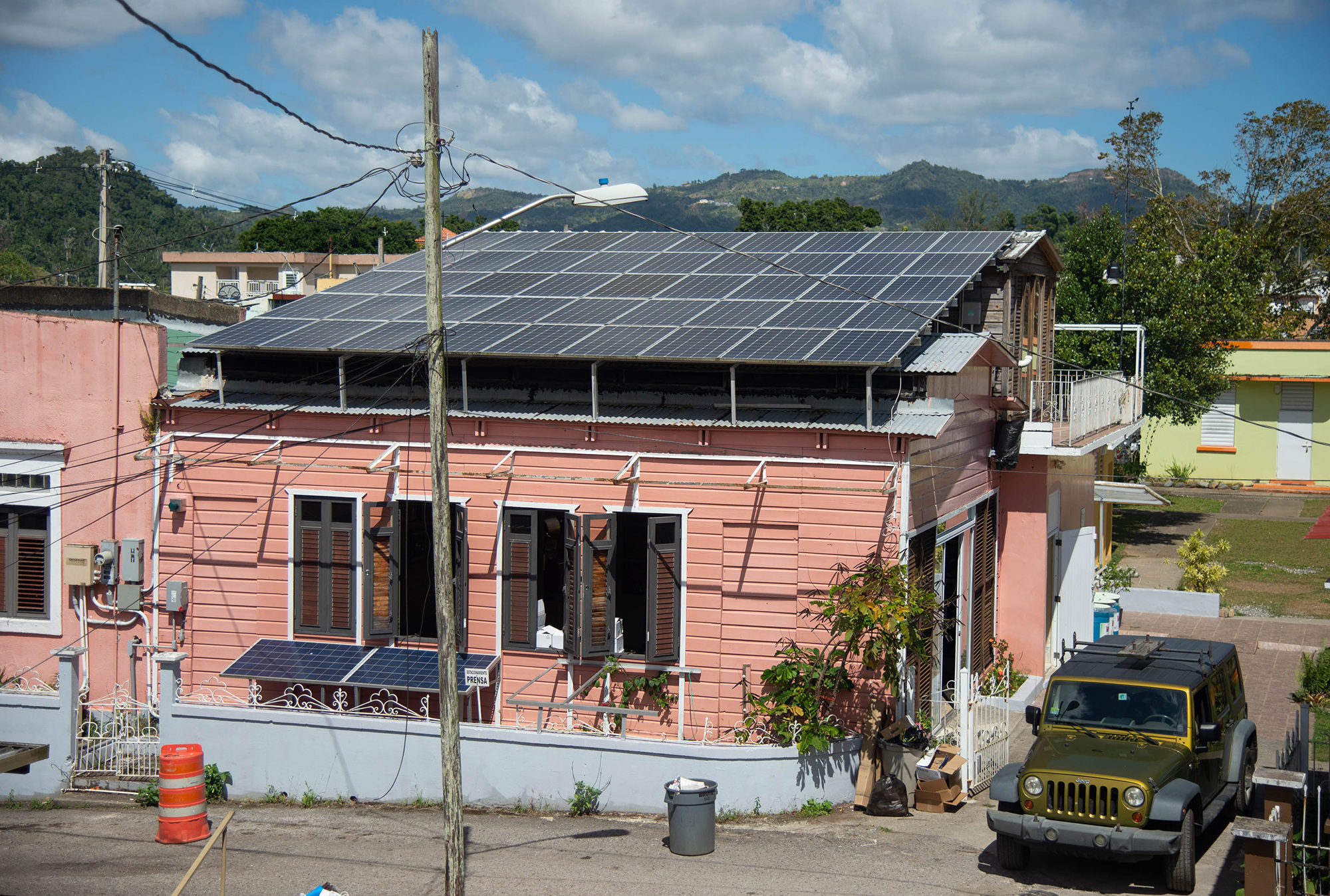 Casa Pueblo's solar array. Photo by Valerie Welch