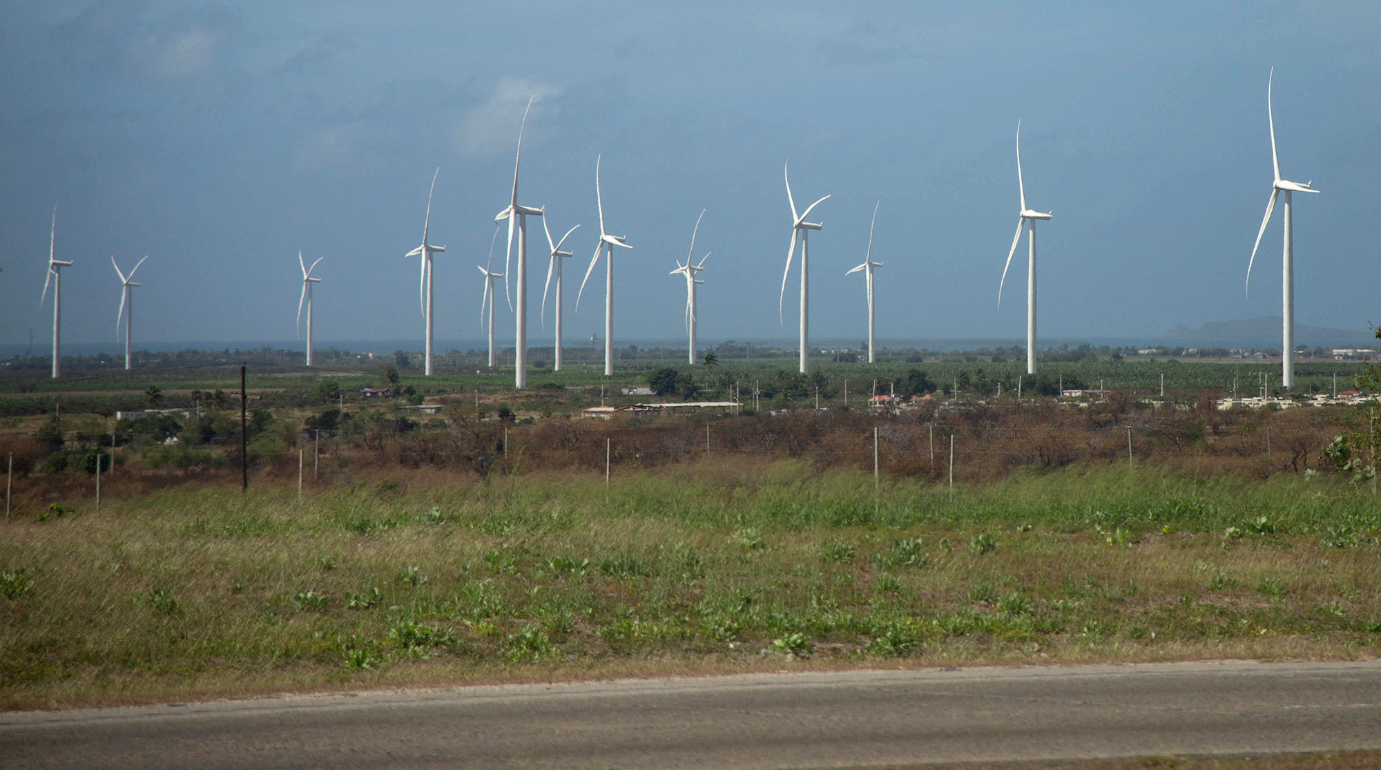 A wind farm on the south coast of Puerto Rico. Photo by Valerie Welch